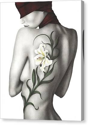 Sorrow Canvas Print by Pat Erickson