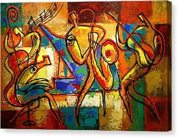 Soul Jazz Canvas Print by Leon Zernitsky