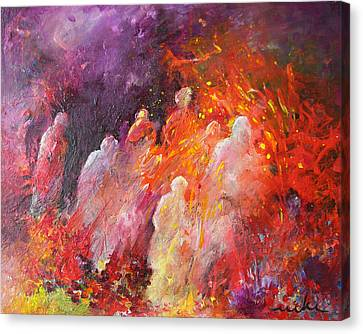 Souls In Hell Canvas Print by Miki De Goodaboom