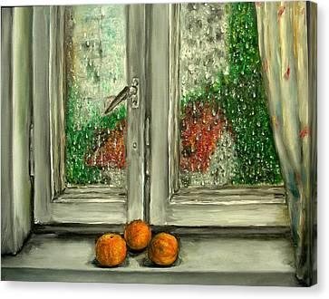 Sound Of Rain  Oil Painting Canvas Print by Natalja Picugina