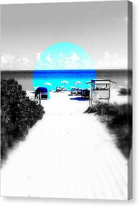 South Beach Blues Canvas Print by Funkpix Photo Hunter