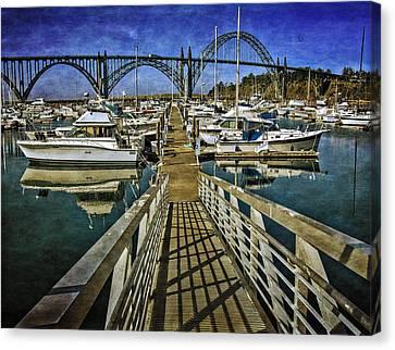 South Beach Marina Ramp Canvas Print by Thom Zehrfeld