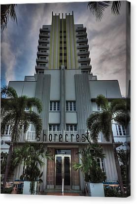 South Beach - Shorecrest Hotel 001 Canvas Print by Lance Vaughn