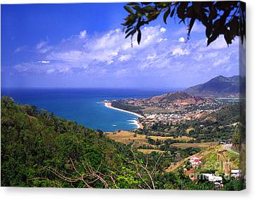 Southeast Coast Of Puerto Rico From Panoramic Route 901 Canvas Print by Thomas R Fletcher