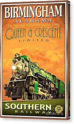 Southern Railway - Poster Canvas Print by Roberto Prusso