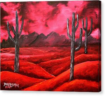 Southwestern Abstract Oil Painting Canvas Print by Derek Mccrea