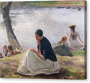 Souvenir Canvas Print by Emile Friant