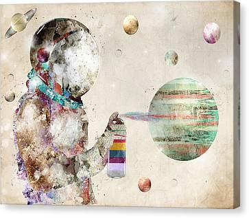 Space Graffiti Canvas Print by Bri B