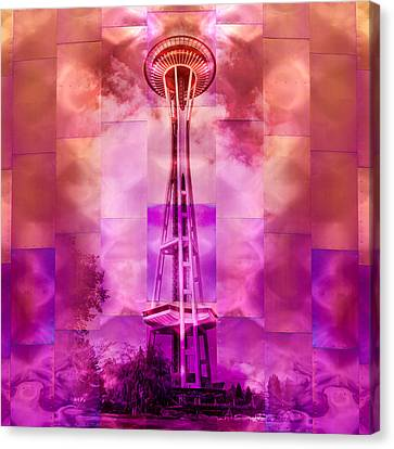 Space Needle - Emp - Seattle Canvas Print by Nikolyn McDonald