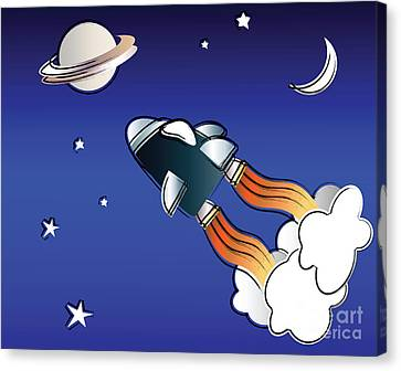 Space Travel Canvas Print by Jane Rix