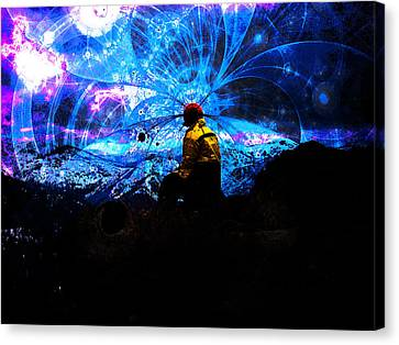 Space Watcher Canvas Print by Bear Welch
