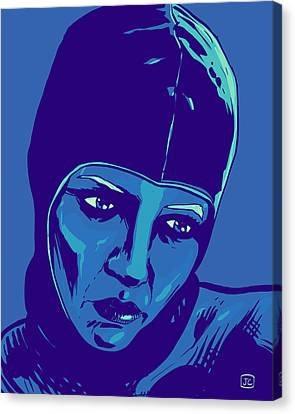 Spaceman In Blue Canvas Print by Giuseppe Cristiano
