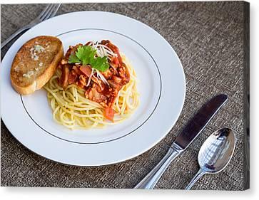 Spaghetti #1 Canvas Print by Jon Manjeot