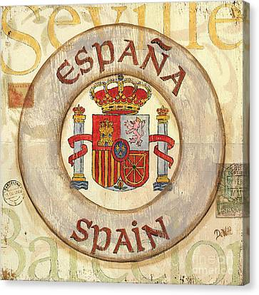 Spain Coat Of Arms Canvas Print by Debbie DeWitt