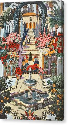 Spanish Garden Canvas Print by Harry Wearne