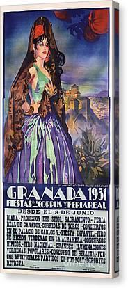 Spanish Granada - Poster Canvas Print by Roberto Prusso