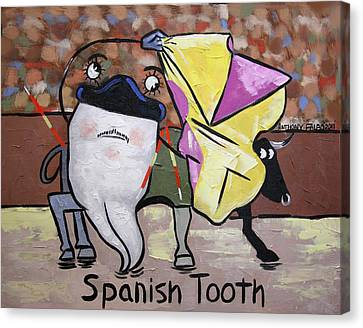 Spanish Tooth Canvas Print by Anthony Falbo