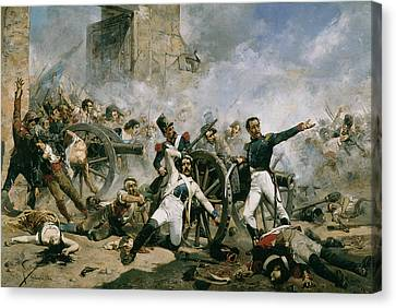 Spanish Uprising Against Napoleon In Spain Canvas Print by Joaquin Sorolla y Bastida
