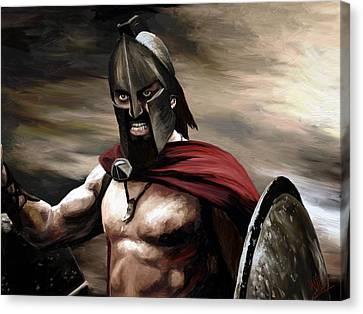 Spartan Canvas Print by James Shepherd