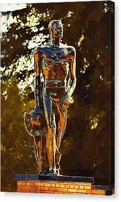 Sparty Canvas Print by Paul Bartoszek