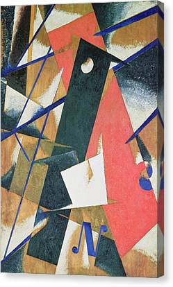 Spatial Force Construction Canvas Print by Lyubov Sergeevna Popova