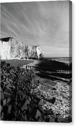 Spectacular Cliffs At Seaford Head Sussex England Canvas Print by James Brunker