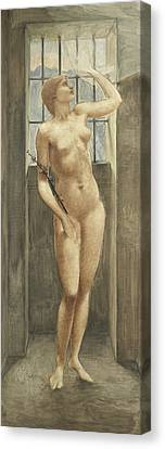 Spes, Or Hope In Prison Canvas Print by Edward Coley Burne-Jones