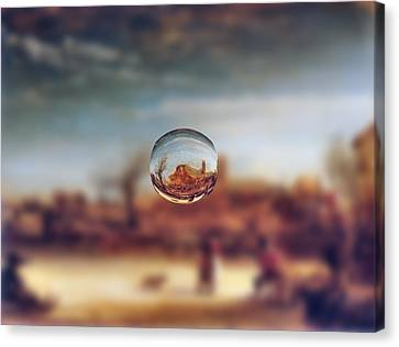 Sphere 14 Rembrandt Canvas Print by David Bridburg