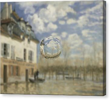 Sphere 25 Sisley Canvas Print by David Bridburg