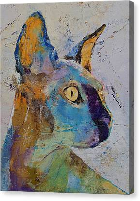 Sphynx Cat Canvas Print by Michael Creese
