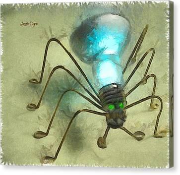 Spiderlamp Canvas Print by Leonardo Digenio