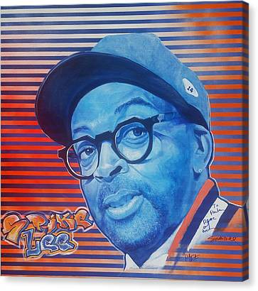Spike Lee Canvas Print by Reuben Cheatem