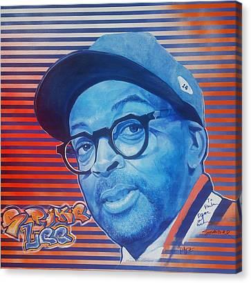 Spike Lee Canvas Print by Reuben Cheatem