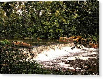 Spillway Early Morning Canvas Print by Thomas Woolworth