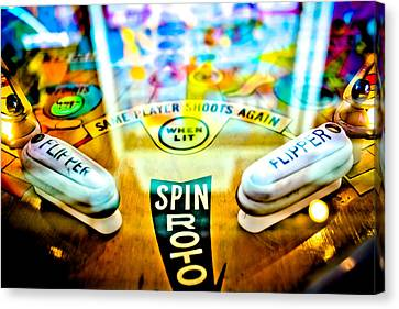 Spin Roto - Pinball Machine Canvas Print by Colleen Kammerer