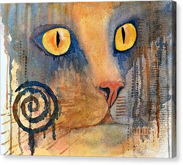 Spiral Cat Series - Returned Canvas Print by Moon Stumpp
