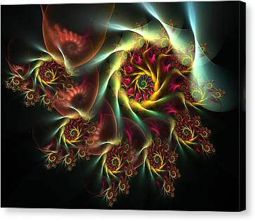 Spiral Of Riches Canvas Print by Amorina Ashton