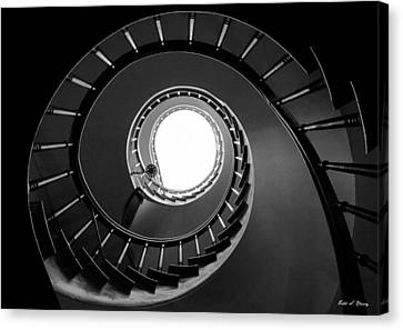 Spiral Staircase Canvas Print by Todd Klassy
