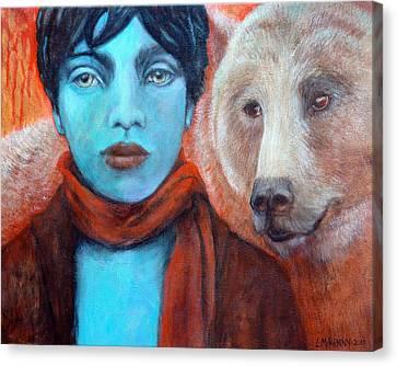 Spirit Helper Canvas Print by Lorraine Marian Kenny