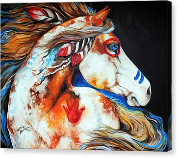 Spirit Indian War Horse Canvas Print by Marcia Baldwin