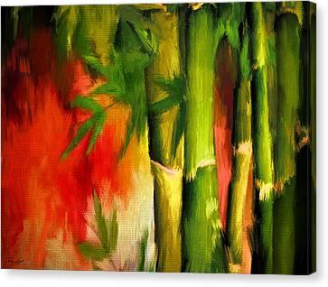 Spirit Of Summer- Bamboo Artwork Canvas Print by Lourry Legarde