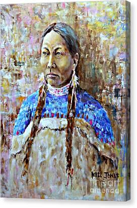Spirit Of The Lakota Canvas Print by Neil Jones