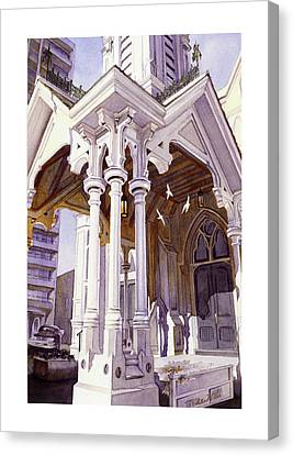 Spirits Of The Old Church Canvas Print by Mike Hill