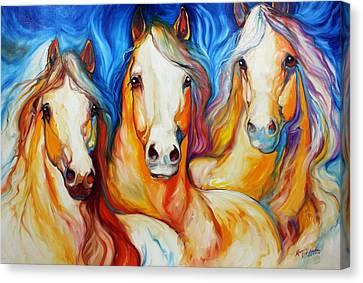 Spirits Three Canvas Print by Marcia Baldwin
