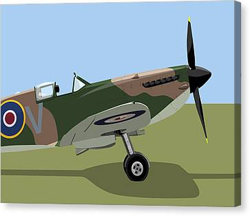Spitfire Ww2 Fighter Canvas Print by Michael Tompsett