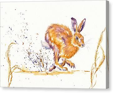 Splash Canvas Print by Debra Hall