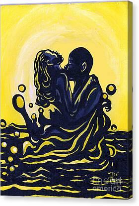 Splash Canvas Print by Toni  Thorne