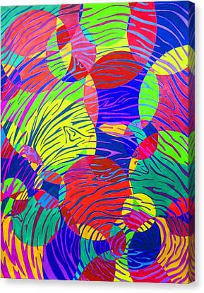 Splashing Through Color Canvas Print by Megan Howard