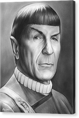 Spock Canvas Print by Greg Joens