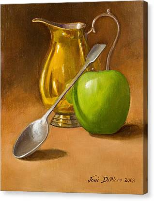 Spoon And Creamer  Canvas Print by Joni Dipirro